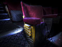 Cinema Seat (howzey) Tags: pictures cinema london abandoned chair decay seat explore derelict coronet odeon urbex eltham