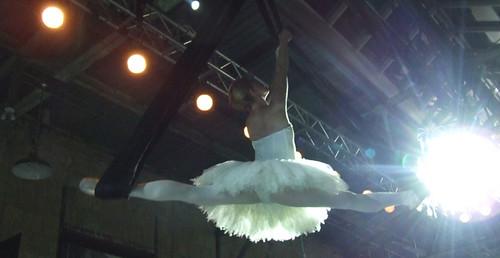 ballerina at Lingerie show
