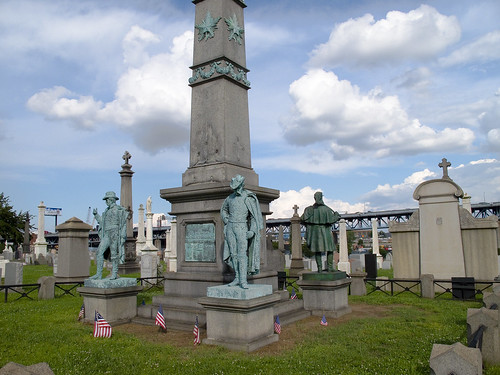 Cavalry Cemetery, civil war monument by you.
