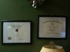 My two diplomas...