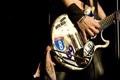 Joan Jett guitar detail (The Brighton Centre) Tags: brighton 11 southcoast liveperformance 07 alicecooper joanjett brightoncentre psychodramatour davidilman