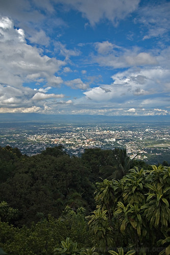 View of Chiang Mai from Wat Phrathat Doi Suthep.