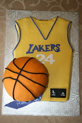 Lakers Cake (irresistibledesserts) Tags: birthday basketball cake jersey lakers