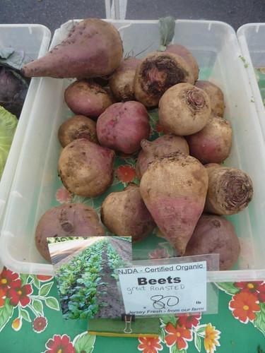 Organic beets farmers market