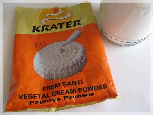 1 kg krem şanti=7 lira