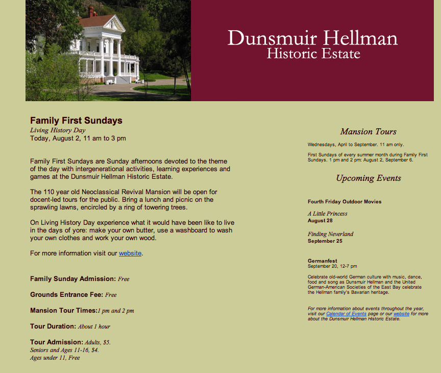 The Dunsmuir Estate's Bait and Switch Admission Scam