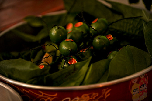 Wedding Tea Ceremony Detail: Betel Fruit