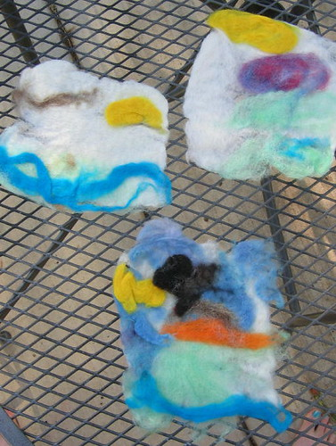 All three of our felted pictures