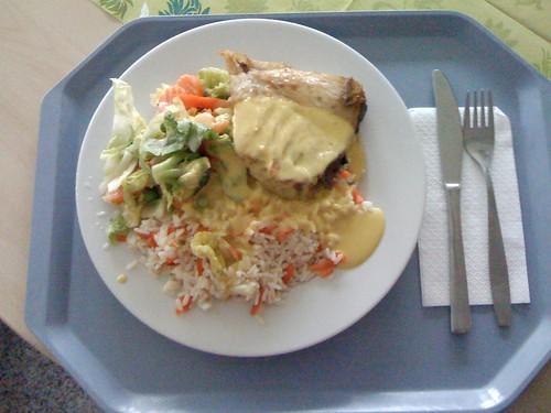 Schwertfisch in Safrancreme / Swordfisch with saffron creme