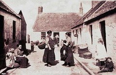 A Friday Chat in Auchmithie - Old Scottish Postcard