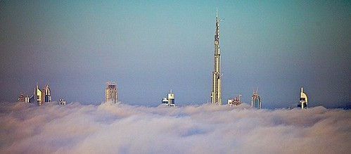 the Burj Dubai rises above the fog (by: Mohamed Somji, creative commons license)