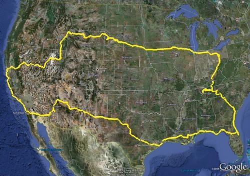 Moto ADV 2009 Trip Route