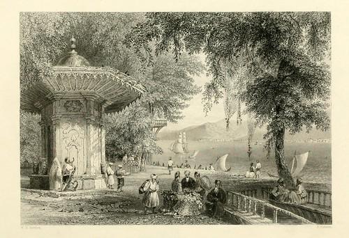023- Istenia cerca de Therapia-Las bellezas del Bosforo 1838-W.H. Bartlett