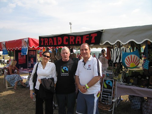 Simon Hughes MP at Traidcraft market
