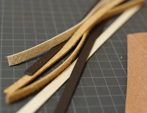 Making leather straps 1