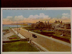 a1750 (Providence Public Library) Tags: narragansett shoredrive thetowers postcardcollection narragansettpier narragansettpierri rhodeislandimages pc7490