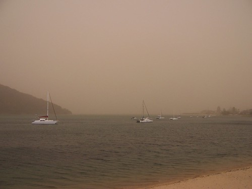 Dust storm from Ettalong, 23rd September 2009