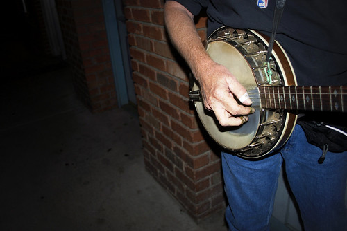 downtown banjo player