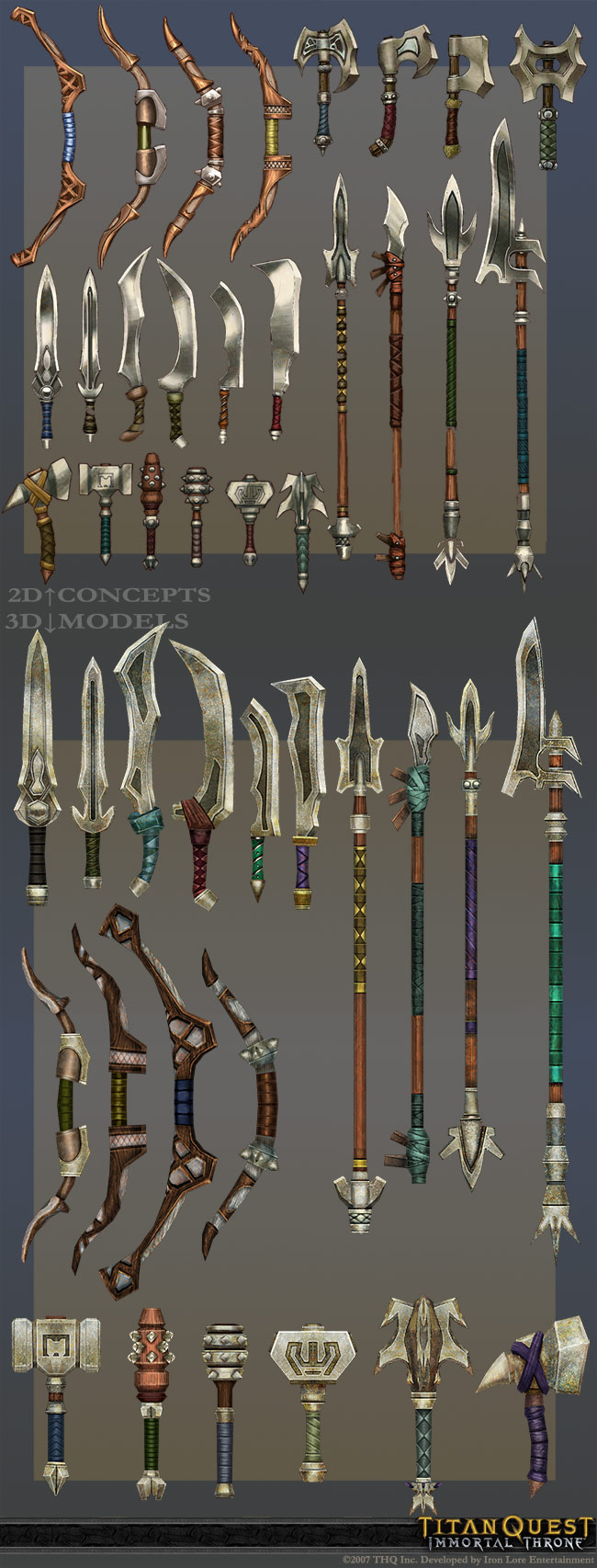 mixed weapons in Immortal Throne