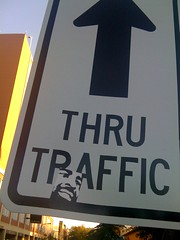 (theres no way home) Tags: chicago sign illinois sticker artist traffic hiphop arrow evanston sharkula thig thru