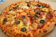 Pizza Party (stardex) Tags: food canon bread yummy beef sausage meat pizza delicious dominospizza dominopizza stardex