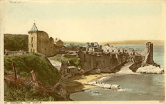 St Andrews Castle Photochrom Old Postcard 1943