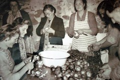 Women Peeling Apples for Black Butter