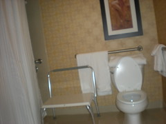 Our accessible bathroom at the Las Vegas Hilton