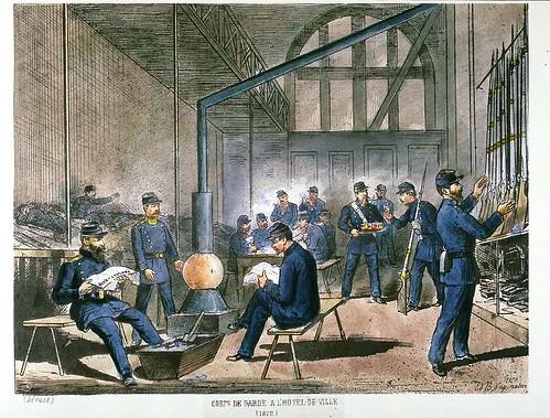 017- Cuerpo de guardia en el Ayuntamiento 1870-Collectionneur lillois Edouard Boldoduc  1895
