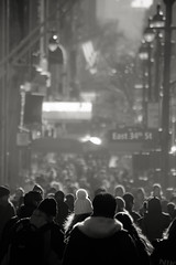 Human Streams (Pensiero) Tags: street people blackandwhite newyork cold fog stream crowd streams portfolio folla flussi east34thstreet fivestarsgallery
