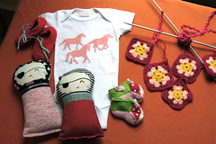 Handmade Gifts Of Late (Smile And Wave) Tags: baby girl handmade gifts accessories