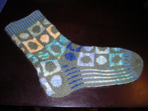 Scrappy Socks #1 - Blocked