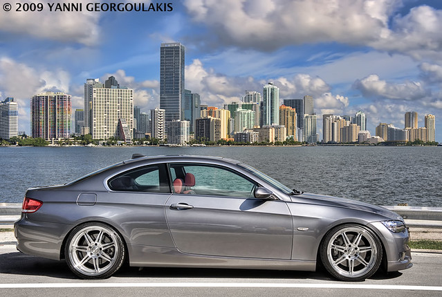 car grey nikon inch key photoshoot miami corse space gray bmw rims 2008 19 coupe d3 linea modded biscayne coilovers 3series yanni dyna 19s 335 2470 e92 335i georgoulakis