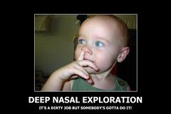 Deep Nasal Exploration (larynx1982) Tags: baby up nose finger deep dirty exploration job picking nasal