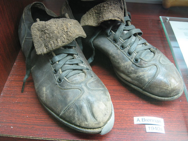 Spikes worn by A. Brennan, 1940s