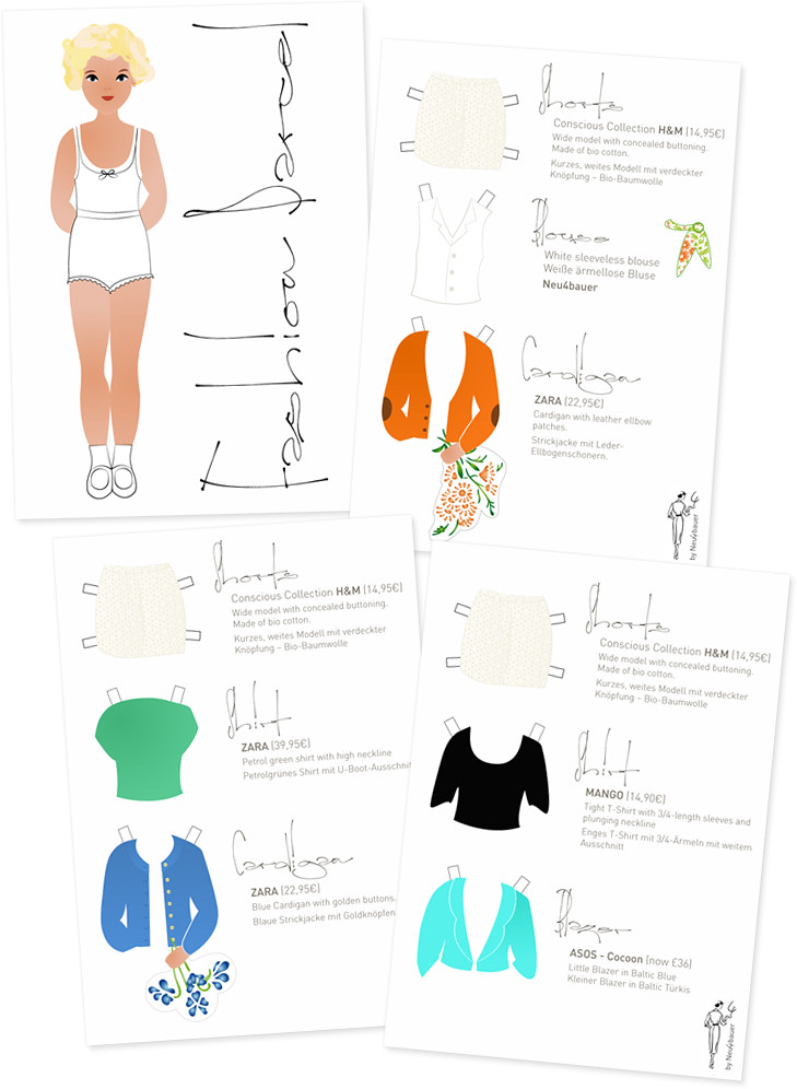 Fashion Parcel Paper Doll