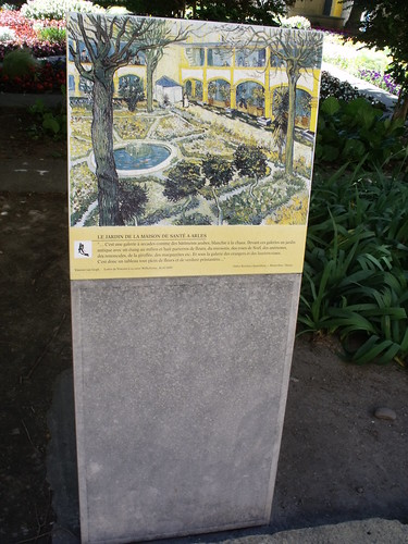 Espace Van Gogh - Arles - plaque - Le Jardin de la Maison de Sante a Arles