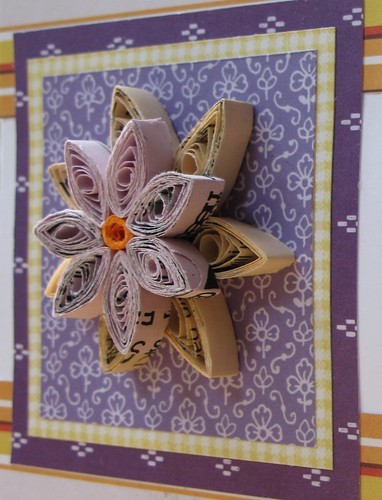 Recycled flower card