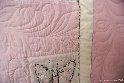 butterfly quilt detail