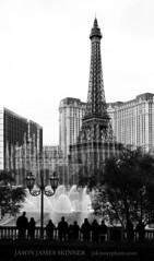 Paris, Las Vegas (skinr) Tags: blackandwhite eiffeltower parislasvegas bellagiofountains thelasvegasstrip wwwjskinnerphotocom jasonjamesskinner