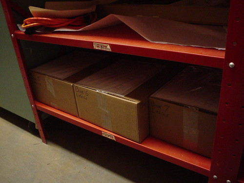 Boxes 5-7 in temporary storage