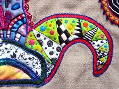 Paisleys closeup 2 WIP (cymberrain) Tags: blue black color green art yellow beads colorful noir embroidery sewing workinprogress wip funky brightcolors paisley applique couture embellished couleur handstitched dyed creations handdyed fiberarts broderie saturatedcolor artsplastiques fancywork brightcolored couleursvives fancyneedlework loisirscreatifs stitchbyhand teintureartisinale