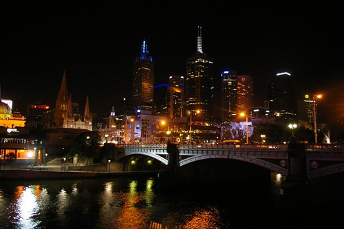 The Yarra by night, 2