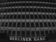 berliner bank (motocchio) Tags: winter bw berlin geometric monochrome germany january bank 2009 berlinerbank