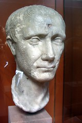 Marble head of Julius Caesar