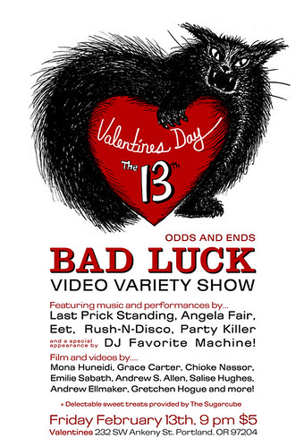 Valentines Day the 13th Badluck Video Variety show