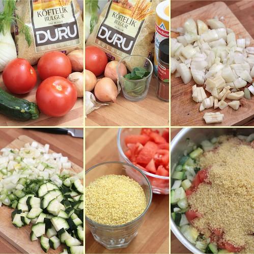 Préparation bulgur aux légumes
