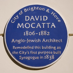 Photo of David Mocatta blue plaque