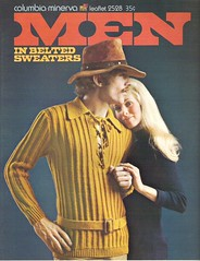Men In Belted Sweaters Cover (moxie-girl) Tags: men vintage knitting pattern sweaters retro thrift 70s 1970s belted