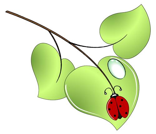 green ladybug clipart - photo #18